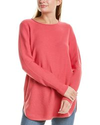 Eileen Fisher Round Neck Top - Multicolor