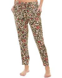 Betsey Johnson Brushed Jogger - Brown