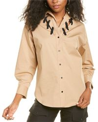 Sandro Oderic Lace-up Shirt - White