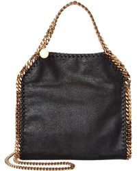 Stella McCartney Falabella Tiny Shaggy Deer Shoulder Bag - Black
