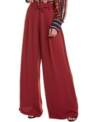 BCBGMAXAZRIA High-waist Belted Flare Pant - Red