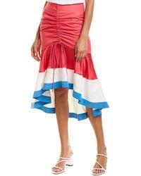 Prabal Gurung Biniod Silk-trim Pencil Skirt - Pink