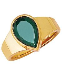 Johnny Was - Logan Hollowell 18k Over Silver Green Agate Ring - Lyst