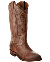 Frye Billy Stitch Leather Boot - Brown