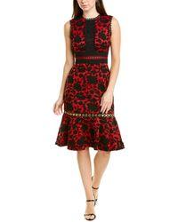 Saloni Trudi B Sheath Dress - Red