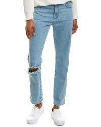 French Connection Mid-rise Straight Leg - Blue