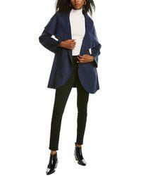 Tahari Marilyn Double Face Medium Wool-blend Coat - Blue