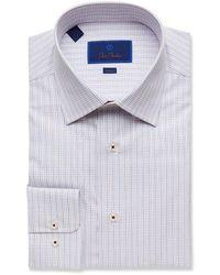 David Donahue Slim Fit Dress Shirt - Blue