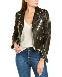 IRO Allumy Leather Jacket - Black