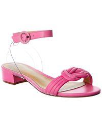 Alexandre Birman Vicky Leather Sandal - Pink