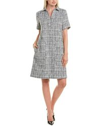 Lafayette 148 New York Novella Shirtdress - Black