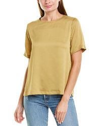 Vince Camuto Rumple Hammered Top - Yellow