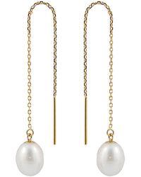 Splendid 14k 7-8mm Pearl Earrings - Metallic