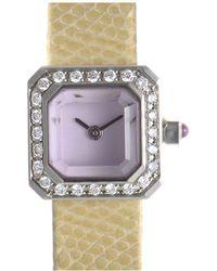 Corum - Leather Diamond Watch - Lyst