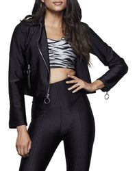 GOOD AMERICAN The Rebel Disco Moto Jacket - Black