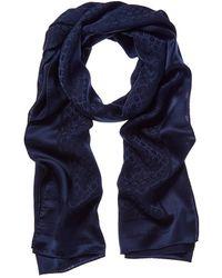 Ferragamo Gancini Silk Scarf - Blue