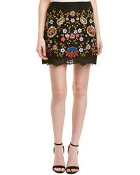 French Connection Mazie Floral Mini Skirt - Black