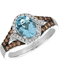 Le Vian ? 14k 1.32 Ct. Tw. Diamond & Aquamarine Ring - Blue