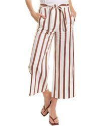 Maje Pomala Linen-blend Pant - White