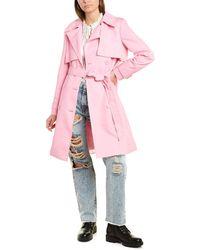 Alice + Olivia Monique Trench Coat - Pink