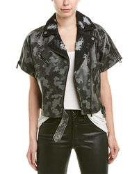 Jocelyn Moto Leather Jacket - Multicolour