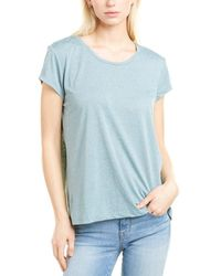 French Connection Hetty Linen-blend T-shirt - Blue