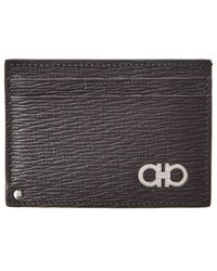 30bb4d8b3d3 Embossed Leather Credit Card Case - Black