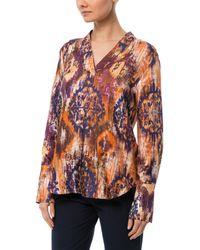Les Copains Silk Top - Orange