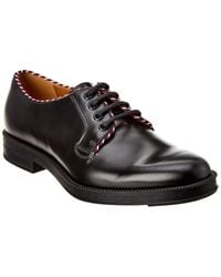 Gucci Lace-up Leather Oxford Loafer - Black