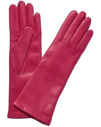 Portolano Cashmere-lined Leather Gloves - Pink