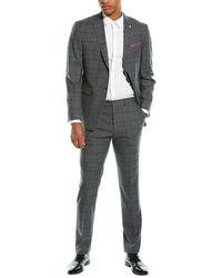 Original Penguin Wool-blend Slim-fit Dress Suit - Grey