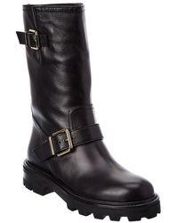 Jimmy Choo Biker Ii Leather Boot - Black