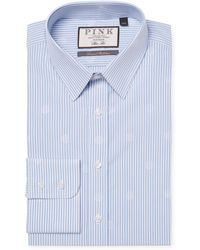 Thomas Pink Kasper Spot Dress Shirt - Blue
