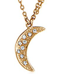 Melinda Maria - 14k Plated Cz Moon & Star Necklace - Lyst