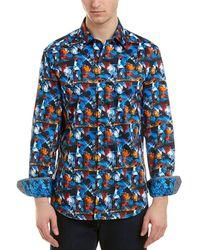 Robert Graham Cabreo Classic Fit Woven Shirt - Blue