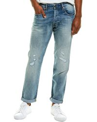 G-Star RAW Raw Morry 3d Relaxed Vintage Stream Restored Tapered Leg Jean - Blue