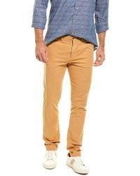 Grayers Slim Fit Linen-blend Pant - Brown