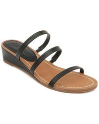 Splendid Moxie Leather Wedge Sandal - Black
