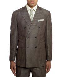 Michael Bastian Italian Wool Double-breast Suit - Brown