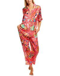 Karen Mabon 2pc Pyjama Shirt & Pant Set - Pink