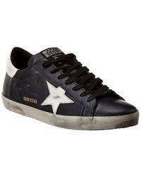Golden Goose Superstar Leather Sneaker - Black