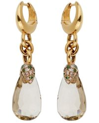 Pomellato 18k 13.01 Ct. Tw. Diamond & Green Quartz Drop Earrings - Metallic