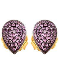 Socheec - Colour Stone Jewellery 14k & Silver 0.75 Ct. Tw. Gemstone Studs - Lyst