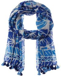 J.McLaughlin Ivie Silk-blend Scarf - Blue