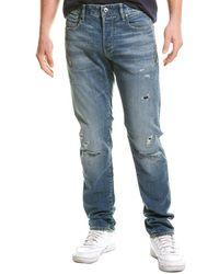G-Star RAW Raw 3301 Faded Ripped Atlas Slim Leg Jean - Blue