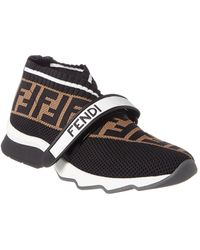 Fendi Ff Velcro Sock Sneakers - Black