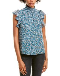 1.STATE Keyhole Blouse - Green