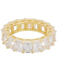 Alanna Bess Limited Collection 14k Over Silver Cz Ring - Metallic