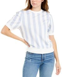 David Lerner Ashley Crop Top - Blue