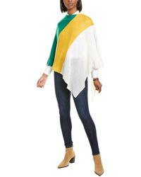 Portolano Cowl Neck Cashmere Poncho - Multicolor